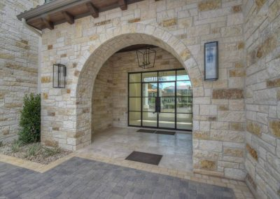 Applehead-Waterfront-Transitional-Front-Door-by-Z…ome-Builders