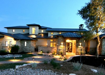 Hill-Country-Modern-Front-Elevation-by-Zbranek-Holt-Custom-Homes-Austin-Luxury-Custom-Home-Builder