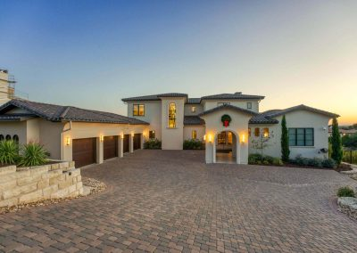 Zbranek-and-Holt-Custom-Homes-Front-Drive-Sunset