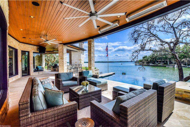 Covered Patio Horseshoe Bay Coastal Contemporary by Zbranek and Holt Custom Homes