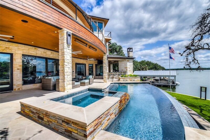 Pool Horseshoe Bay Coastal Contemporary by Zbranek and Holt Custom Homes Luxury Home Builders Horseshoe Bay