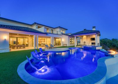 Zbranek-and-Holt-Custom-Homes-Backyard-Sunset-Pool-Pool-Sitting