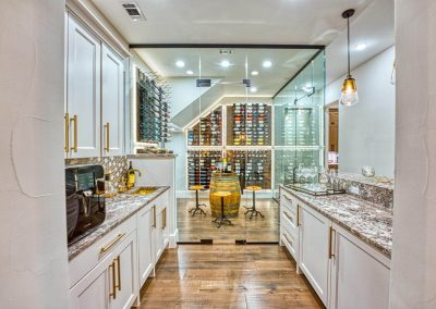 Zbranek-and-Holt-Custom-Homes-Bar-Wood-Floor-Wine-Room-Sunset