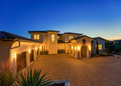 Zbranek-and-Holt-Custom-Homes-Front-Drive-Sunset-2