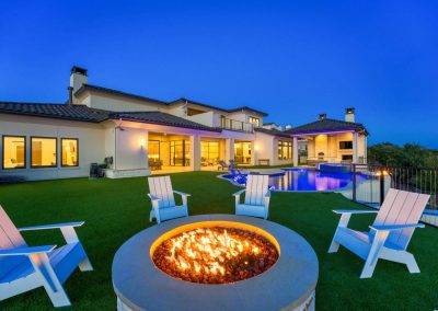 Zbranek-and-Holt-Custom-Homes-Outdoor-Living-Sunset-Fire-Pit-Pool