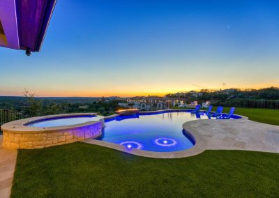 Zbranek-and-Holt-Custom-Homes-Pool-Sitting-Sunset-Pool