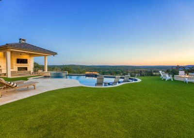 Zbranek-and-Holt-Custom-Homes-Pool-Sunset-Firepit