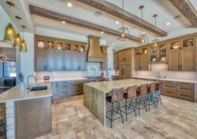 Zbranek-and-Holt-Custom-Homes-Shoe-Sugi-Ban-Beams-Kitchen-Waterfall-Granite-Island