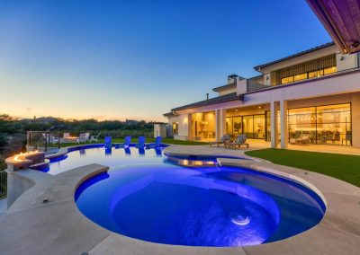 Zbranek-and-Holt-Custom-Homes-Sunset-Pool-Firepit