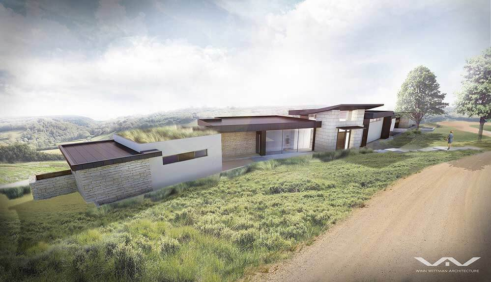Zbranek and Holt Custom Homes Modern Sustainable Custom Home Secluded in the Hill Country