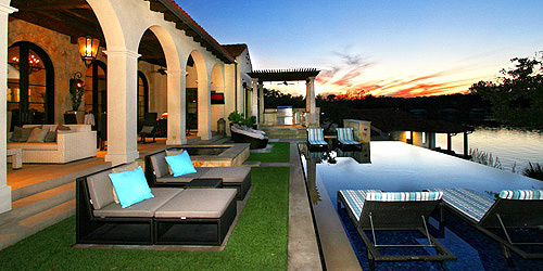 outdoor living from a custom home in horseshoe bay tx