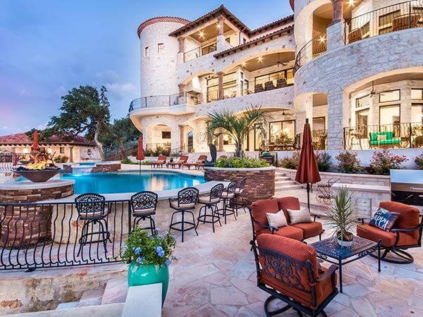 Outdoor Living Horseshoe Bay Texas Tuscan Villa by Zbranek and Holt Custom Homes, Horseshoe Bay Custom Home Builders