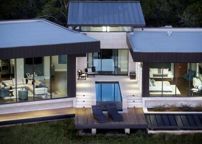 Drone Rear 1 Hill Country Contemporary – Casa Tre Cortili by-zbranek-and-holt-custom-homes-luxury-home-builders-austin