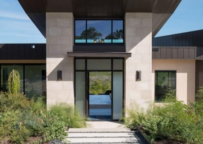 Exterior Front Entry Day Hill Country Contemporary – Casa Tre Cortili by-zbranek-and-holt-custom-homes-luxury-home-builders-austin