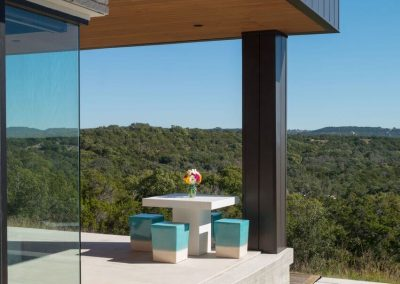 Exterior Patio + Butted Corner Hill Country Contemporary – Casa Tre Cortili by-zbranek-and-holt-custom-homes-luxury-home-builders-austin