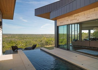 Exterior Pool Angle 2 Hill Country Contemporary – Casa Tre Cortili by-zbranek-and-holt-custom-homes-luxury-home-builders-austin