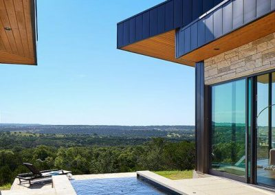 Exterior Pool Angle 3 Hill Country Contemporary – Casa Tre Cortili by-zbranek-and-holt-custom-homes-luxury-home-builders-austin