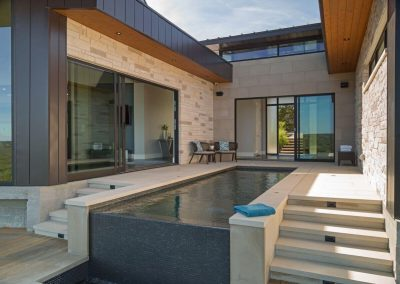Exterior Pool Angle Hill Country Contemporary – Casa Tre Cortili by-zbranek-and-holt-custom-homes-luxury-home-builders-austin