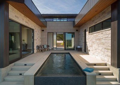 Exterior Pool Straight Hill Country Contemporary – Casa Tre Cortili by-zbranek-and-holt-custom-homes-luxury-home-builders-austin