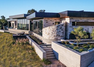 Exterior Rear Right-corrected Hill Country Contemporary – Casa Tre Cortili by-zbranek-and-holt-custom-homes-luxury-home-builders-austin