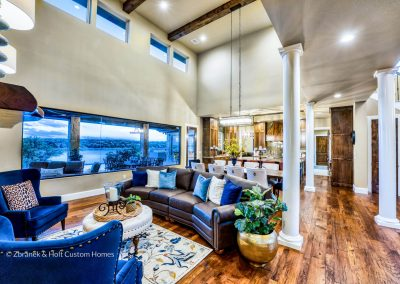 Zbranek-and-Holt-Custom-Homes-Waterfront-European-Luxury-Dining-Living-Kitchen-Lake-View