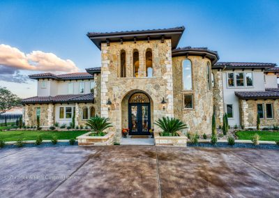 Zbranek-and-Holt-Custom-Homes-Waterfront-European-Luxury-Front-Elevation-Entry