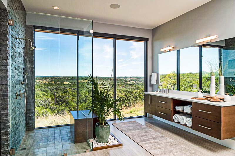 Zbranek & Holt Custom Homes -  Modern Texas Hill Country Sustainable Home designed by Winn Wittman